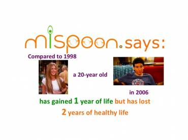 mispoon says: Compared to 1998, a 20-year old in 2006  has gained one year of life but has lost 2 years of healthy life