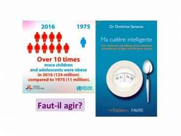 #ma_cuillère_intelligente: La prévalence d'obésité aux enfants et aux adolescents a plus que décuplé depuis 1975