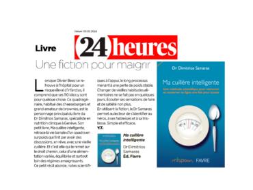 Article sur #ma_cuillère_intelligente, publié @24heures le Samedi 03.02.2018