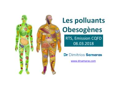 Les Polluants Obésogènes, RTS Emission CQFD, 08.03.2018
