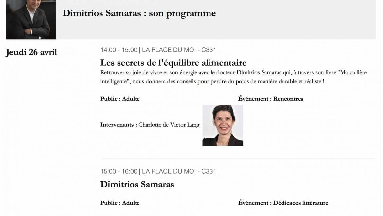 Dimitrios Samaras au Salon du livre de Genève le Jeudi 26 Avril