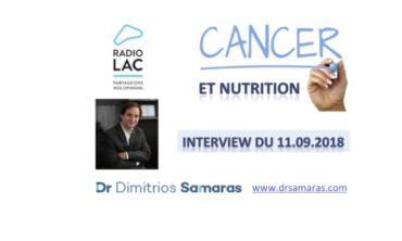 Nutrition et Cancer, Radio Lac 11.09.2018