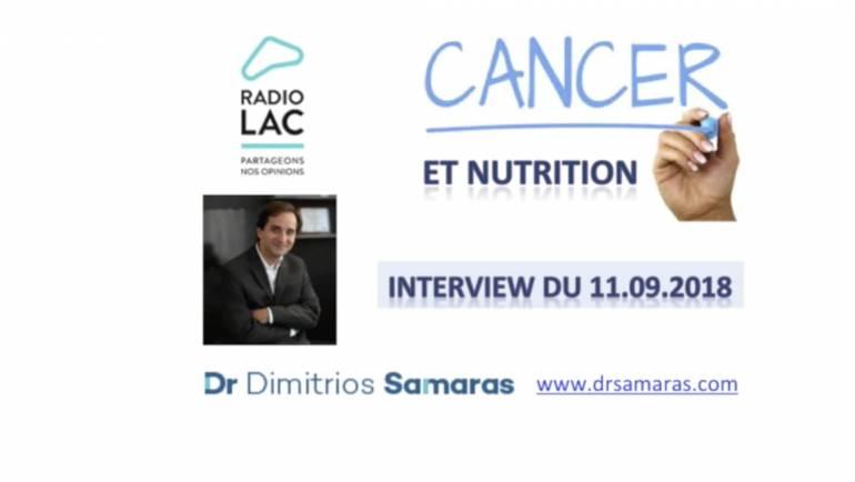 Nutrition et Cancer, Radio Lac 11.09.2018