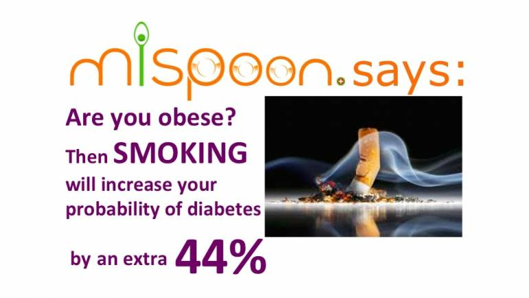 #mispoon says: When obese, smoking increases the probability of diabetes by an extra 44%