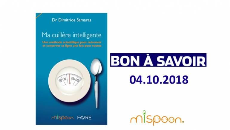 BON A SAVOIR, Article sur «Ma Cuillère Intelligente», 04.10.2018