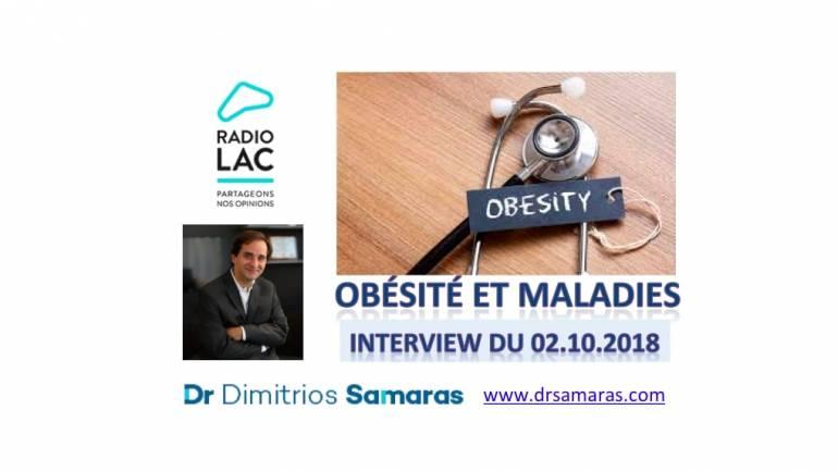 Obésité et maladies, Radio Lac, 02.10.2018