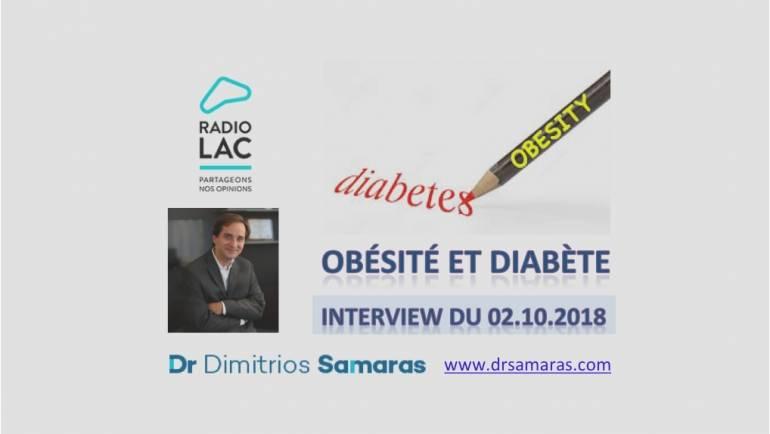 Obésité et Diabète, Radio Lac, 02.10.2018
