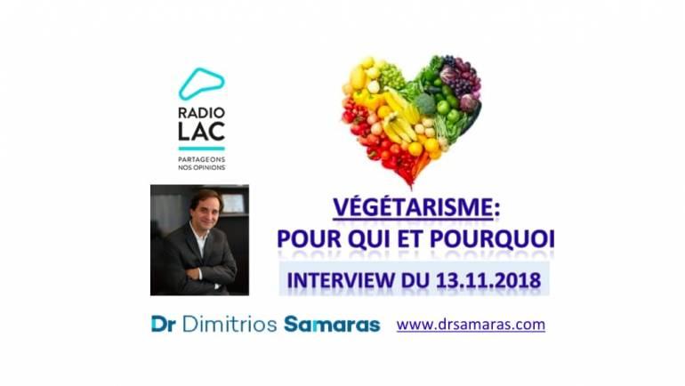 Végétarisme: Pour Qui et Pourquoi? Radio Lac, 13.11.2018