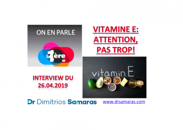 Vitamine E, On En Parle à la RTS, 26.04.2019