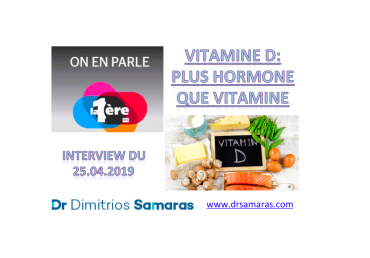 Vitamine D, On En Parle à la RTS, 25.04.2019