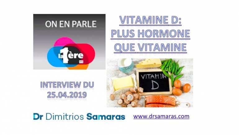 Vitamine D, On En Parle à la RTS, 25.04.2019